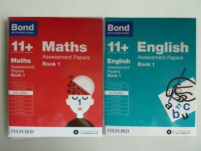 Bond Ks2 Maths & English Assessment Papers Book1 Workbooks Pack of 2 Ages 10-11