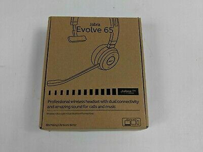 Open Box Jabra Evolve 65 6593-823-309 Professional Wireless Headset -J4511