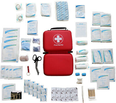 First Aid Kit (226 pieces) with EVA molded case - Fast shipping USA!