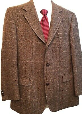 Brooks Brothers Men's Brown Herringbone Wool Jacket Sport Coat Blazer 43R