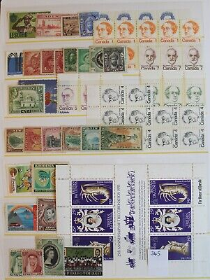 Selection of British Commonwealth Mint Stamps/Sets (R6-345)