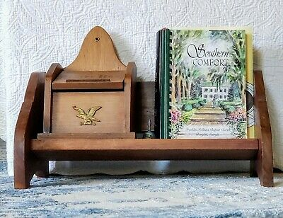 Antique Arts And Craft Oak Book Trough Or Stand. Solid Wood Vintage Stand 1930s