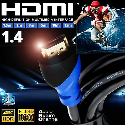 Cable HDMI 1.4 4K UHD 1080p HDR Dolby ARC High Speed Ethernet 3D DTS BluRay PS4