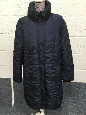 Mamalicious Maternity Blue Quilted Coat Size L Uk 14-16