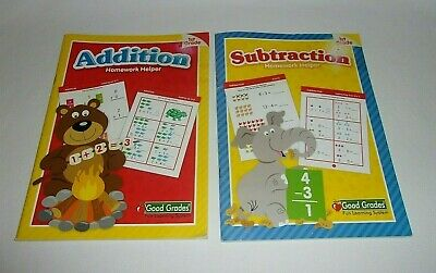 Fun Learn'n System Good Grades Workbook Grade 1 Addition - 1 Subtraction FREE SH