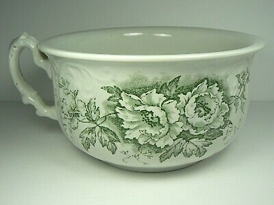 Antique Colonial Pottery Irving Winkle & Wood Green Transferware Chamber Pot