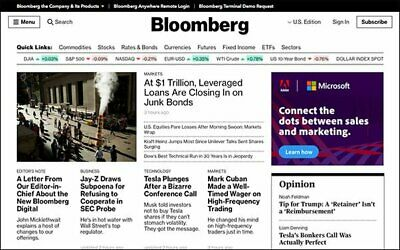 Bloomberg News 5-Year Digital Subscription PC Iphone/Android Tablet Unrestricted