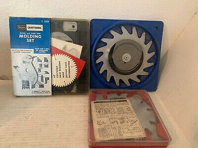 3 Sears Craftsman Saw Blades- Radial and Table Saw Molding Set and 2 Kromedge