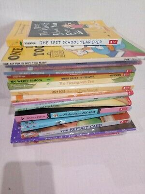 Lot of 24 Chapter Books for GIRLS Youth Early Reader Young Adult Children RANDOM