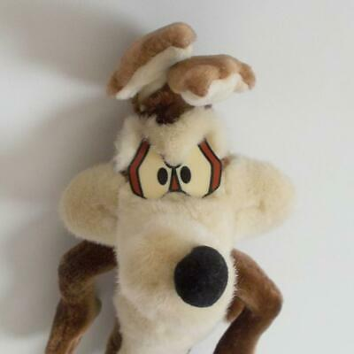 """Applause Wile E Coyote Plush Looney Tunes Bendable Legs 21"""" Tall 1994 Vintage"""
