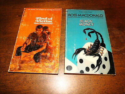 Ross Macdonald used paperback book lot of 2 fiction mystery