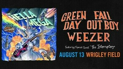 2 Tickets Hella Mega Tour: Green Day, Fall Out Boy, Weezer Wrigley Field Chicago
