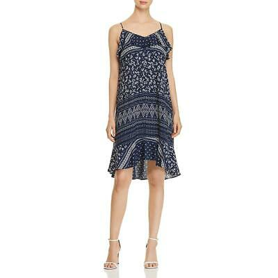 Vince Camuto Womens Ditsy Liberty  Navy Floral Print Party Dress M BHFO 0097