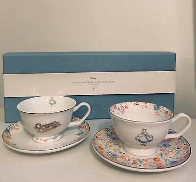 Disney Fine China Tea Cup And Saucer Set - Alice In Wonderland