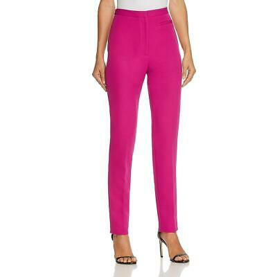 Milly Womens Pink Solid High-Rise Skinny Dress Pants Trousers 2 BHFO 9176