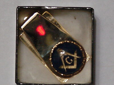 Masonic Money Clip made for the Genesis Lodge 803 64-65, Heavily Gold Plated