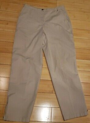CHICOS Womens Size 0 Ankle Zip Dress Pants 28Inseam 37L, 29W Beige Straight Leg