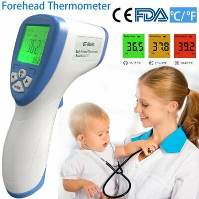 NEW LCD Digital Non-Contact Infrared Thermometer Forehead Fever Adult Baby FDA