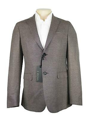 NWT Z Zegna Grey Beige and Charcoal Wool Drop 8 Deco Jacket NEW Size 38 R