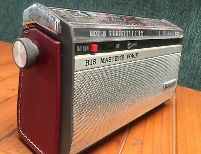 Vintage HIS MASTERS VOICE HMV CHALLENGE AM TRANSISTOR RADIO  - Working