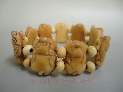 Collect Ancient China Tibet Hand Carved Lovely Pig Hand Catenary Decoration
