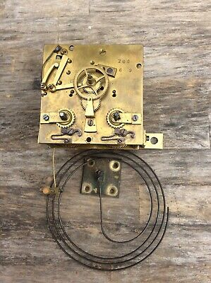 Antique French 8 Day Time & Strike Wall Clock Movement.