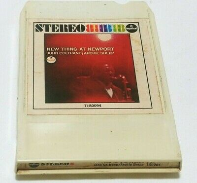 John Coltrane-New Thing At Newport  Impulse Flat-Pak 8-Track Cartridge Serviced!
