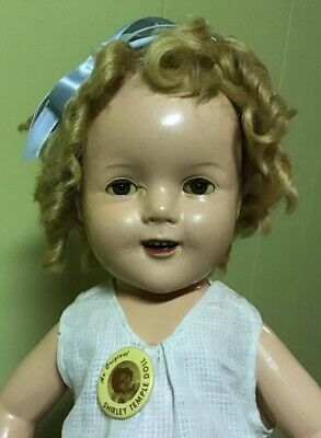 Vintage Composition Shirley Temple Doll 19 Inches Tall TLC Plus Extras!