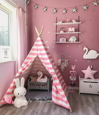 (Open-Box) Girls Princess GIANT WIGWAM TEEPEE Children Play Tent Play House