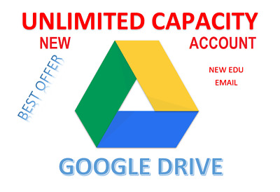 Unlimited GOOGLE DRIVE Storage (EDU EMAIL) -NOT SHARED DRIVE - Unlimited Gmail