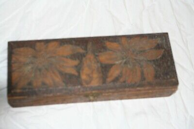 antique wooden box brass hinges and clasp beautiful hand carved