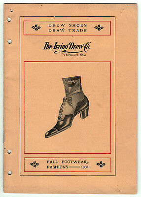 The Irving Drew Co. Fall Footwear Fashions, 1904 - Women's, Children's Shoes