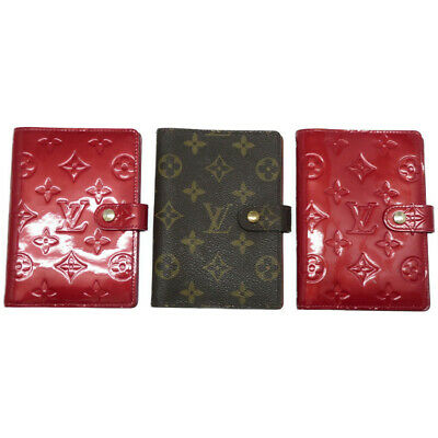 3item set LOUIS VUITTON Monogram Vernis Agenda PM Day planner cover U1387IZI5