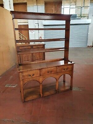 Antique/Reproduction Solid Oak Pot-Board Dresser/Sideboard With Plate Rack