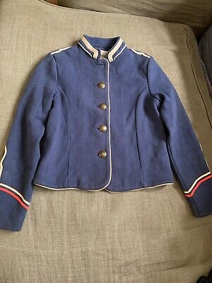 Johnnie B Girls Military Jacket Navy Size 9-10 Years