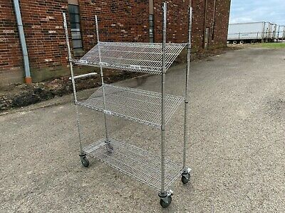 """Slanted Wire Shelving - 48"""" x 18"""" x 72"""""""