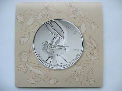 2015 Canada $20 BUGS BUNNY  Silver Coin - LOONEY TUNES - $20 for $20