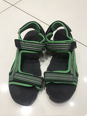 Marks And Spencer M&S Boys Junior Green Black Sandals UK5 EU 38