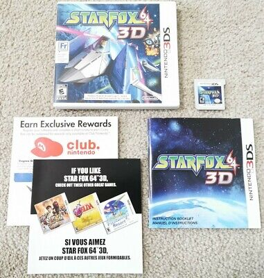 Star Fox 64 3D (Nintendo 3DS) Complete EXCELLENT CONDITION