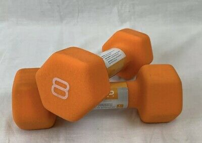 CAP Hex Neoprene 8 lb Pound Set of Two Dumbbell Weights -New- IN HAND SHIPS NOW