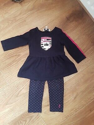 Girls Navy Juicy couture Top And Trousers Set 6/12 Months