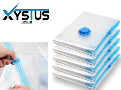 Vacuum Storage Bags - Small Medium Large - Compressed Space saving Seal Bags UK