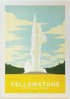 Yellowstone National Park Postcard Unposted