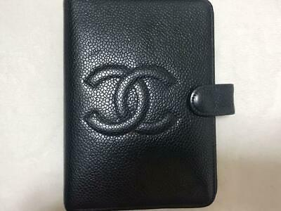CHANEL Agenda Notebook Cover Black Authentic Ladies Memo cover Authentic #3993Q