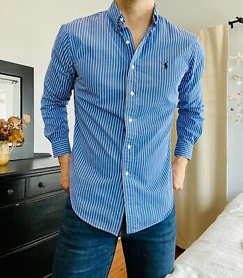 POLO RALPH LAUREN Slim Fit Button Down Shirt - Mens M Athletic Muscle Classic