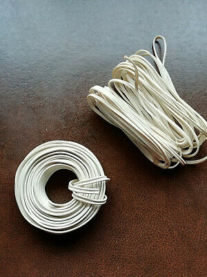 10 Metres Of White 2 Core Flat Door Bell Wire Flexible Cable