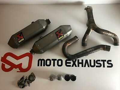 Honda CRF450 2015 2016 Used Full Akrapovic complete twin exhaust system