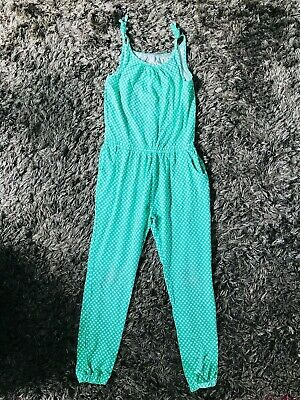 Boden Girls Bright Green All-In-One Jumpsuit 11-12 Years Summer Festival