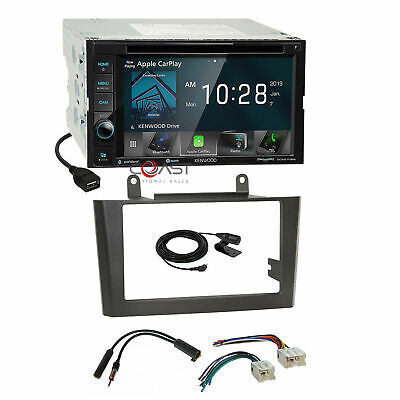 Kenwood DVD BT USB Carplay Stereo Gray Dash Kit Harness for 00-03 Nissan Maxima