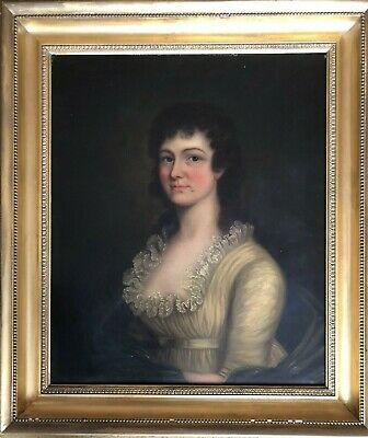 LARGE ANTIQUE 18th CENTURY GEORGIAN PORTRAIT PAINTING - NO RESERVE